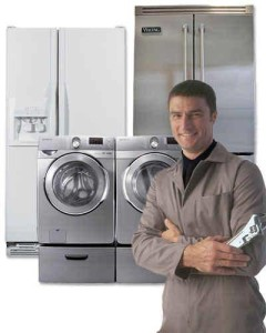 guy fixing a dryer